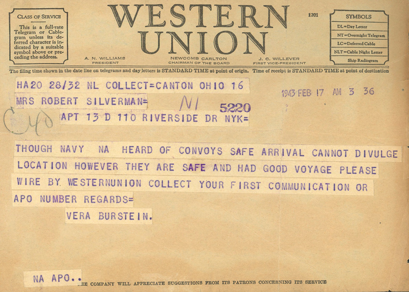 Arrival-Telegram