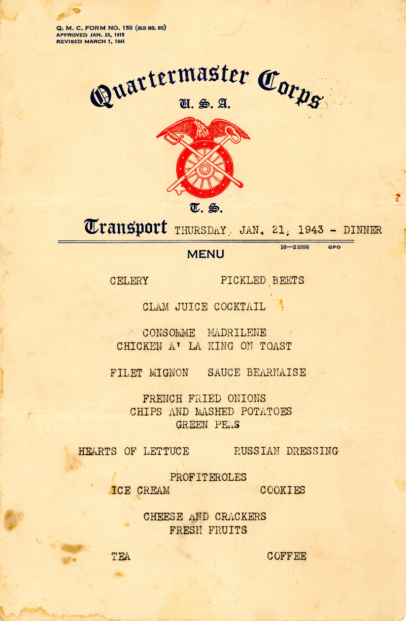 Griffin-Menu-21-Jan-1943