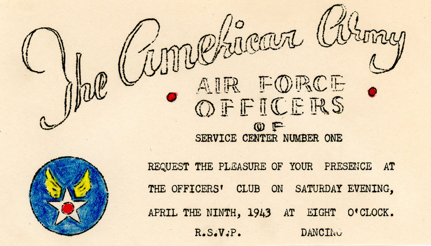 Griffin-USAAF-invitation-9-April-1943-crop